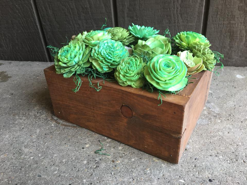 Image of Wood Centerpiece Box