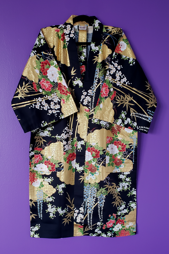 Image of Rei Metallic Printed Robe & Belt