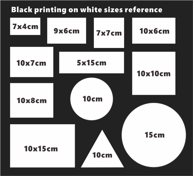Image of Custom Design Black Printing Eggshell Stickers