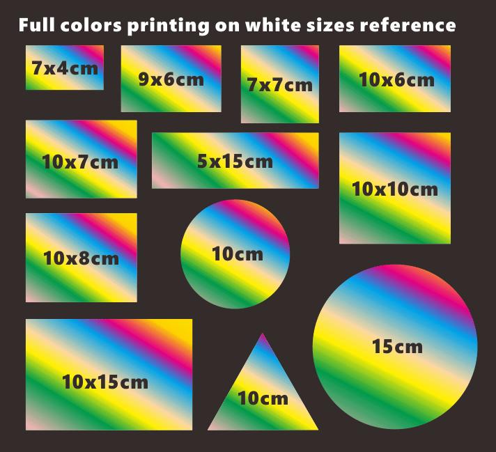 Image of Custom Full Colors Printing Eggshell Stickers