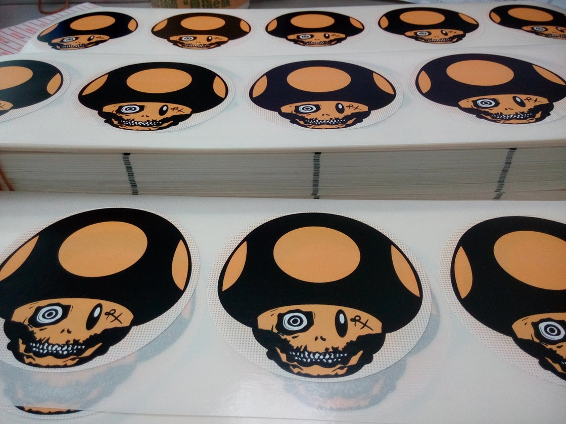 Image of Custom 2 Colors Printing Eggshell Stickers
