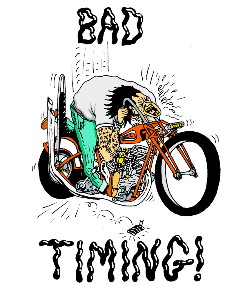 Image of Bad Timing A4 colour signed print