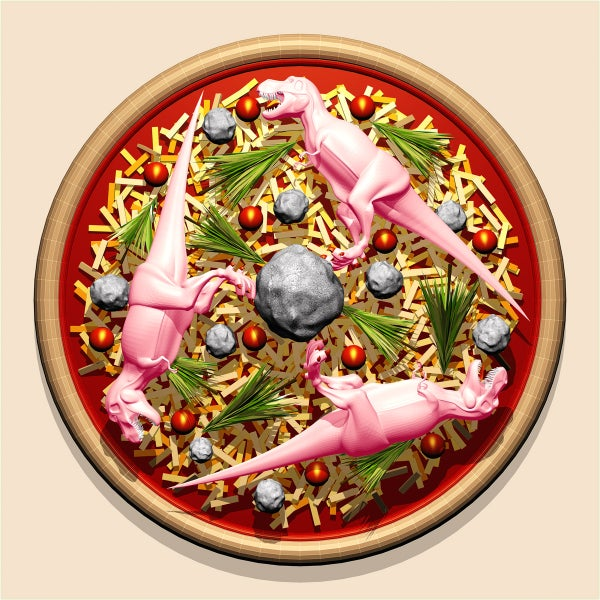 Image of Pizza Art - Dinosaurs