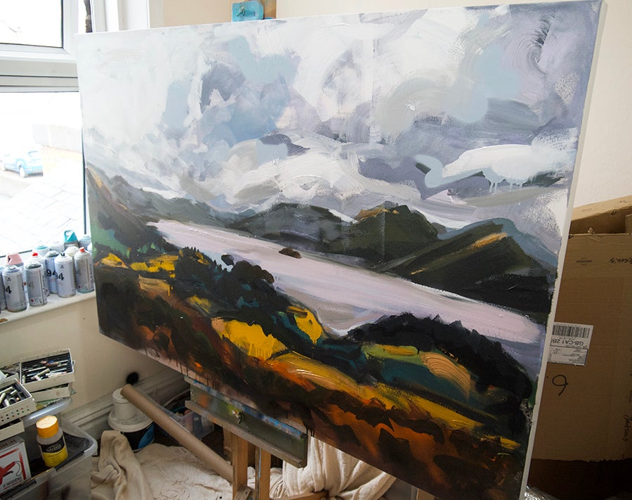 Image of Derwent Water from Castlehead Woods (Original Painting)