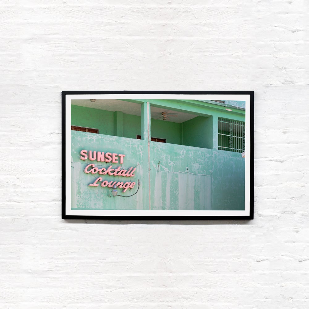 Image of Vernacular Typography Sunset Cocktail Lounge Photo Print