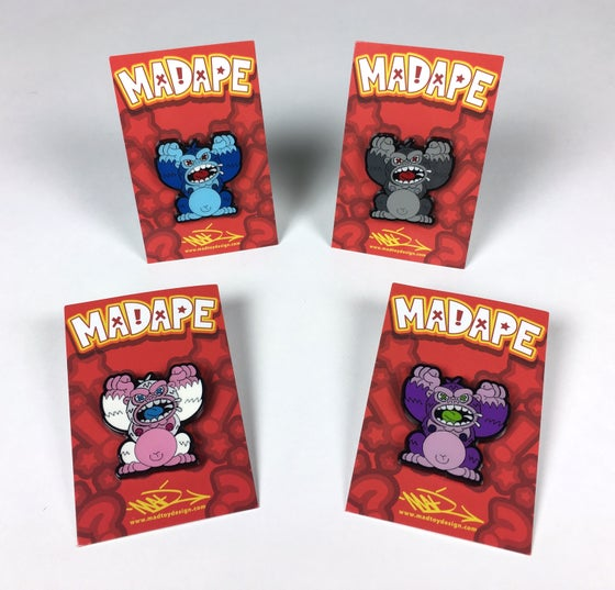 Image of MAD Ape V2 (Full Body) Enamel Pins