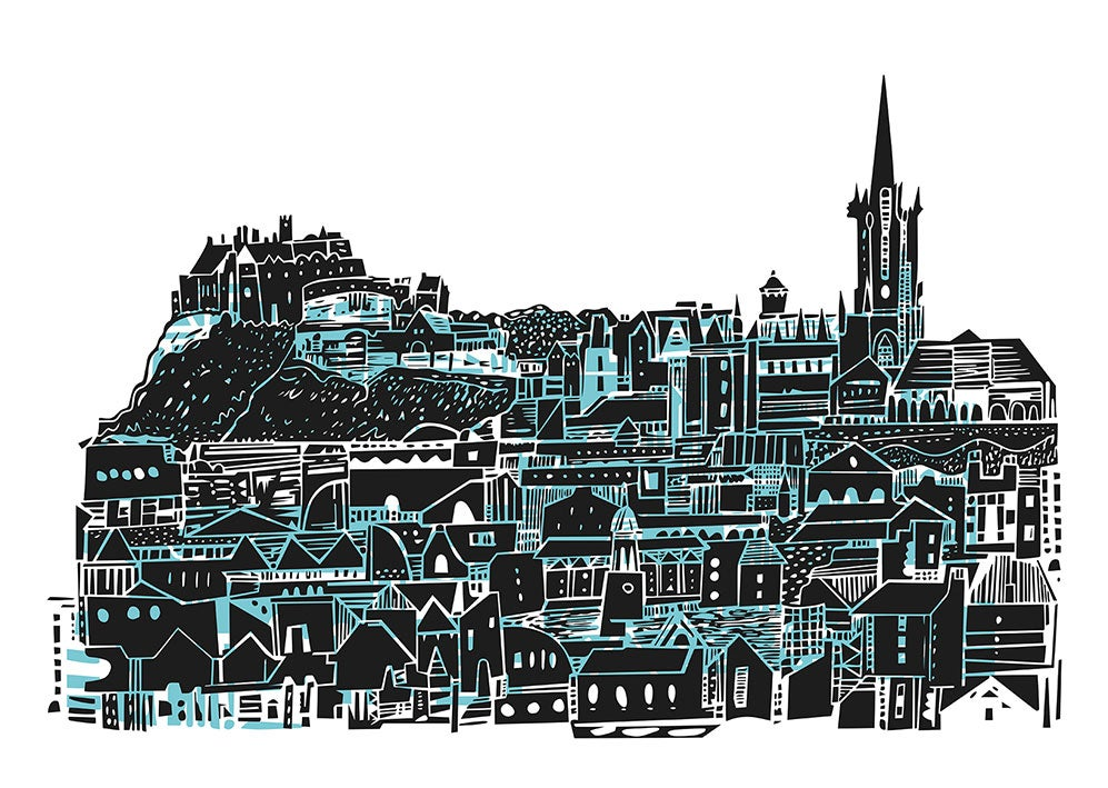 Image of Edinburgh Castle View digital print