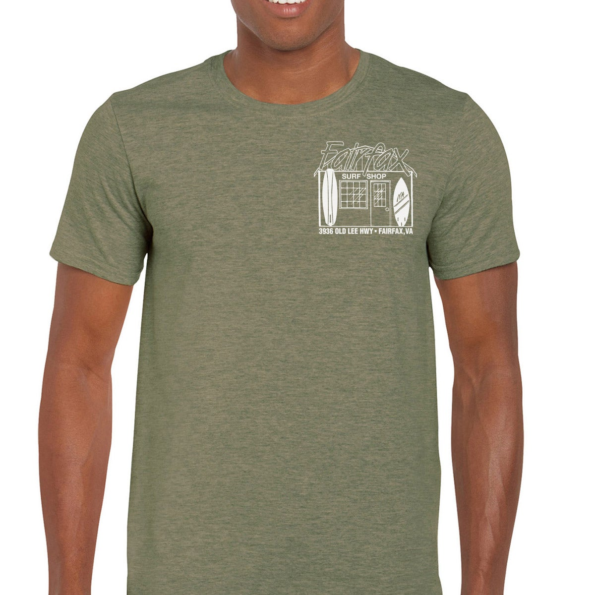 Image of Military Green & White