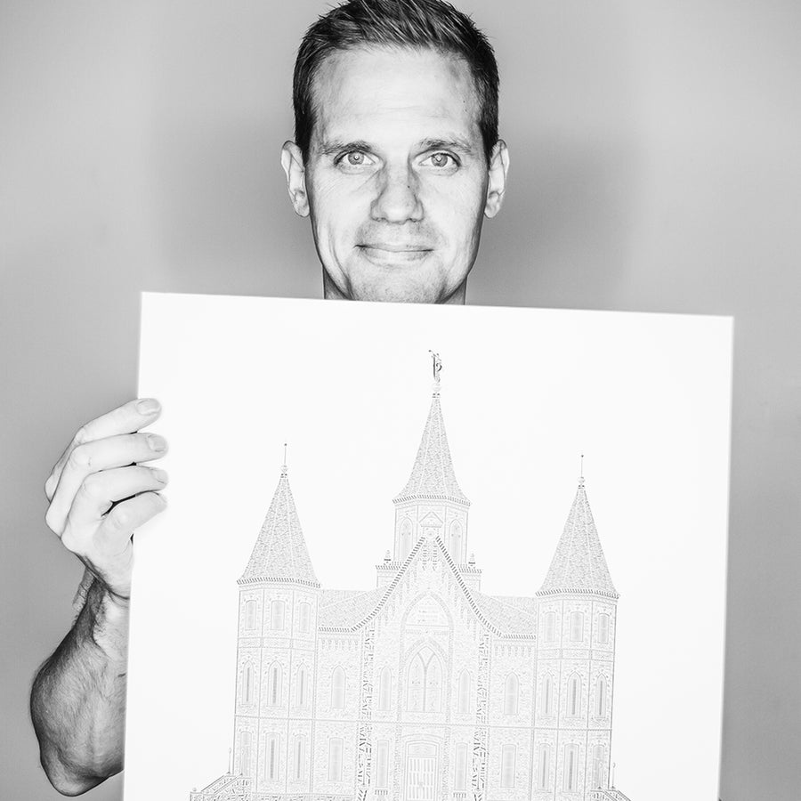 Image of Provo Tabernacle Reimagined in Type