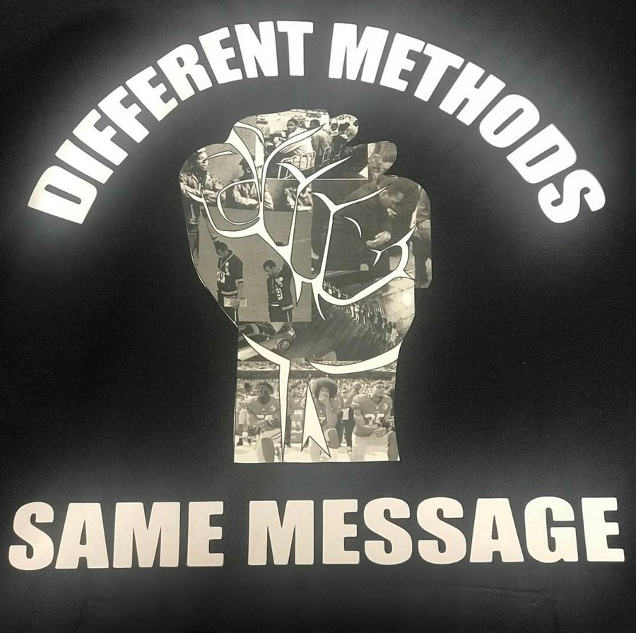 Image of DIFFERENT METHODS SAME MESSAGE IN T-SHIRTS SWEATSHIRT HOODIE