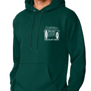 Image of Forest Green & White Hoodie