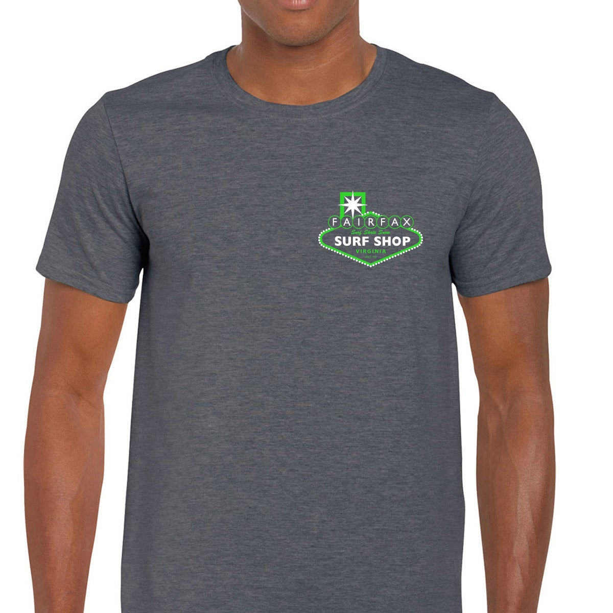 Image of Las Vegas Theme (Heather Grey/ Green & White)