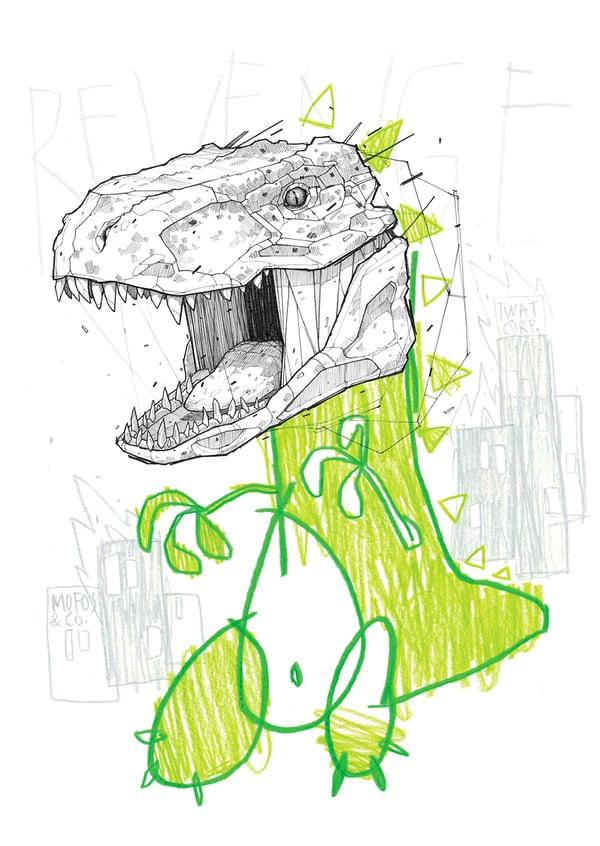 """Image of """"Rex Awakens"""" - A4 print"""