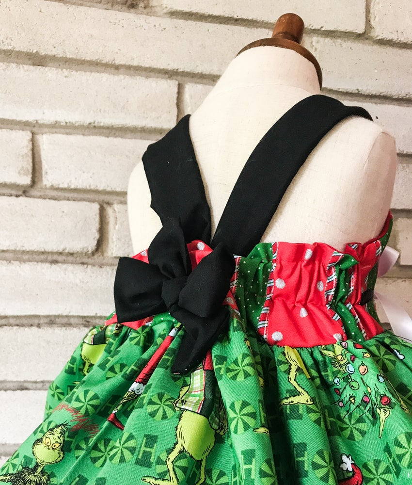 Image of The Grinch Tiered Dress