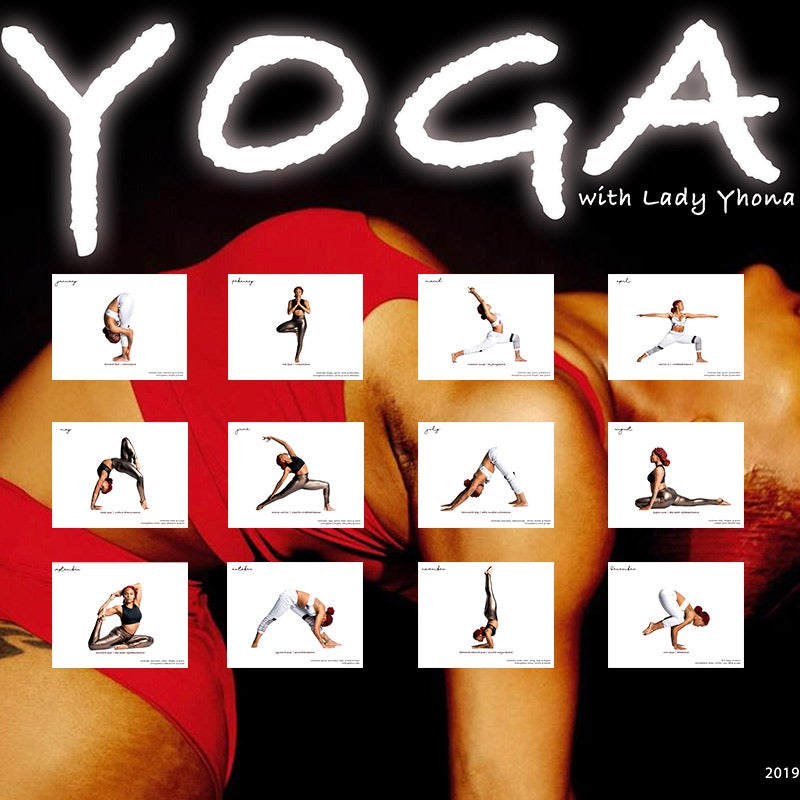 Image of Lady Yhona 2019 Yoga Calendar