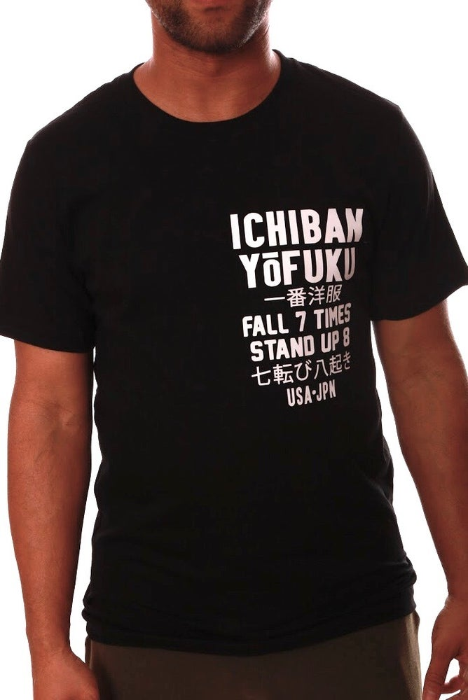 Image of FALL/STAND BLACK T-SHIRT