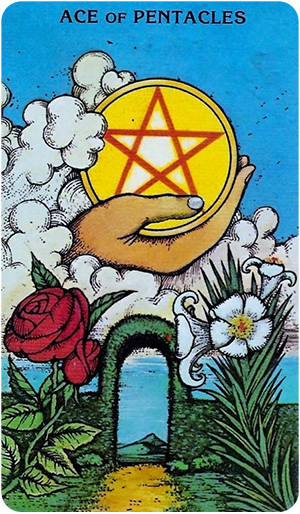 Image of Ace of Pentacles