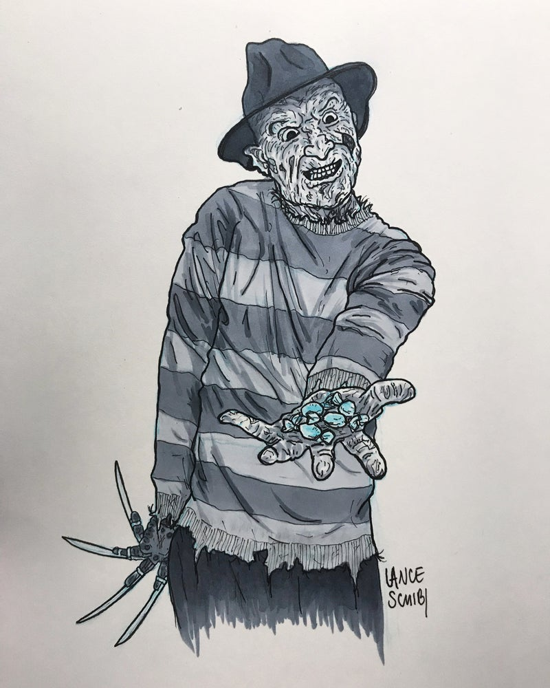 Image of DRAW IN HORROR 2018: A NIGHTMARE ON ELM STREET Original