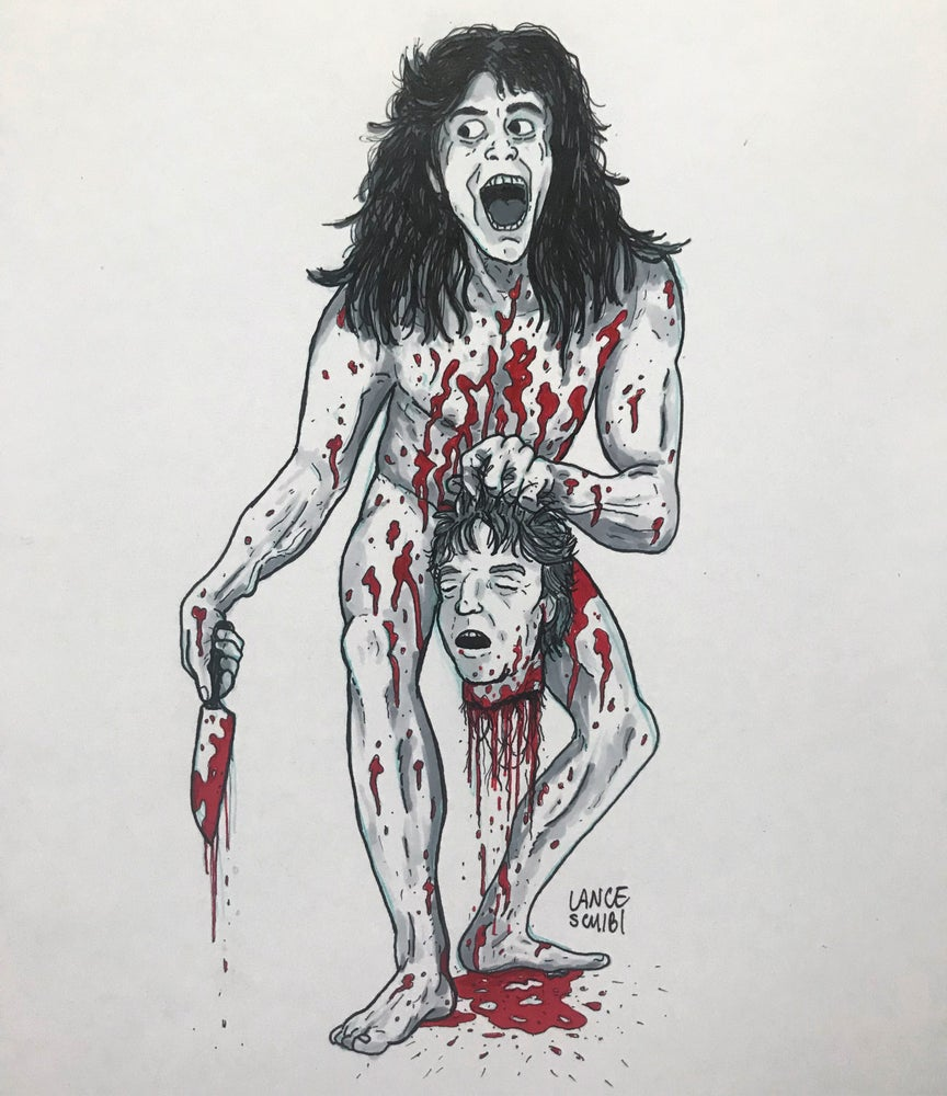 Image of DRAW IN HORROR 2018: SLEEPAWAY CAMP Original