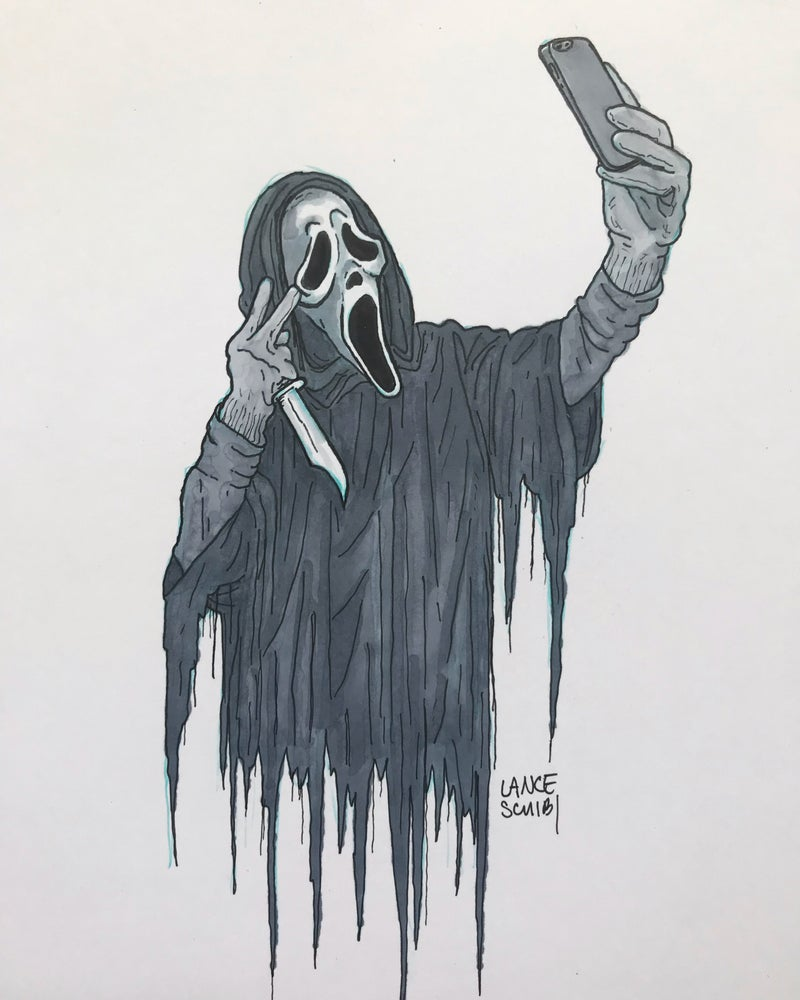 Image of DRAW IN HORROR 2018: SCREAM Original