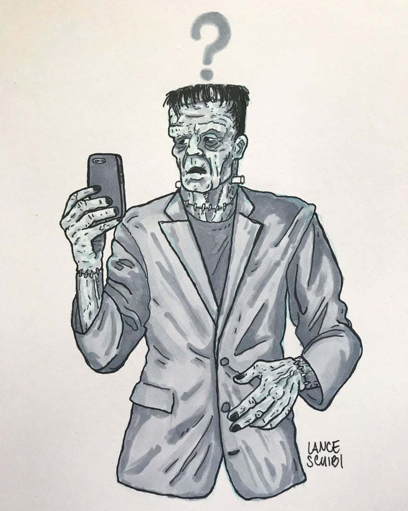 Image of DRAW IN HORROR 2018: FRANKENSTEIN Original