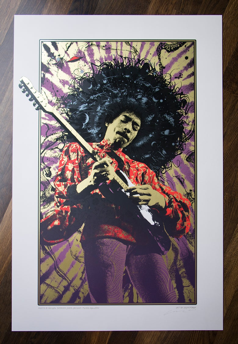 Image of Jimi Hendrix Purple Haze Variant AP Edition of 15