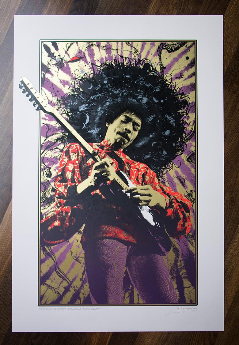 Image of Jimi Hendrix Purple Haze Variant AP Edition of 15