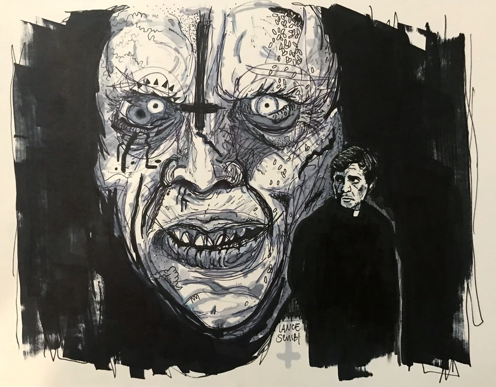 Image of DRAW IN HORROR 2018: THE EXORCIST Original