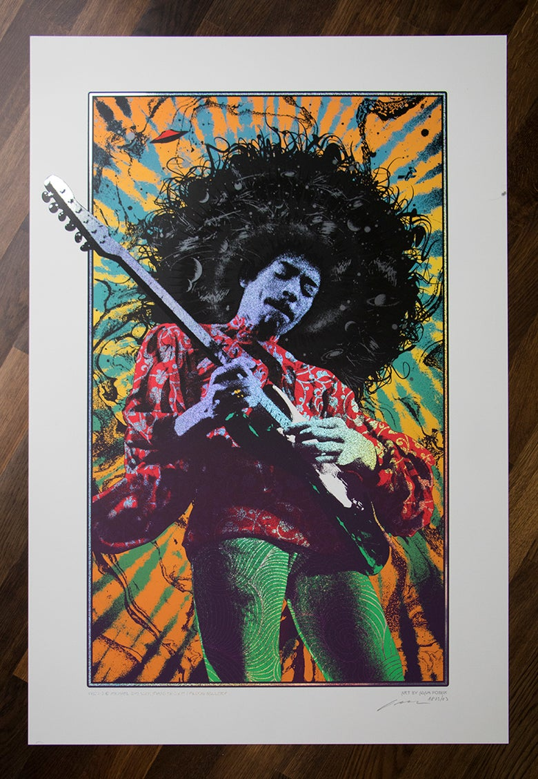 Image of Jimi Hendrix Sparkle Variant AP edition of 3