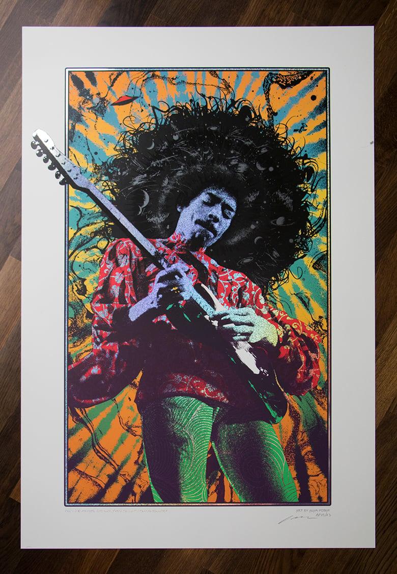 Image of Jimi Hendrix Sparkle Variant AP edition of 3