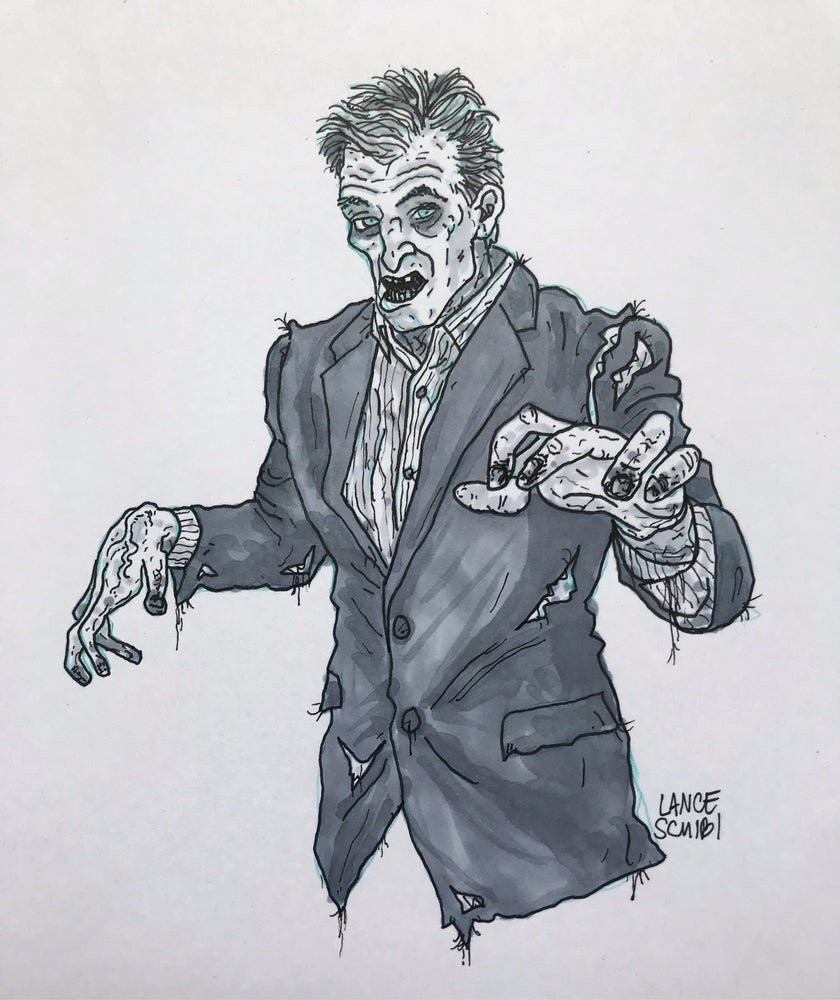 Image of DRAW IN HORROR 2018: NIGHT OF THE LIVING DEAD Original