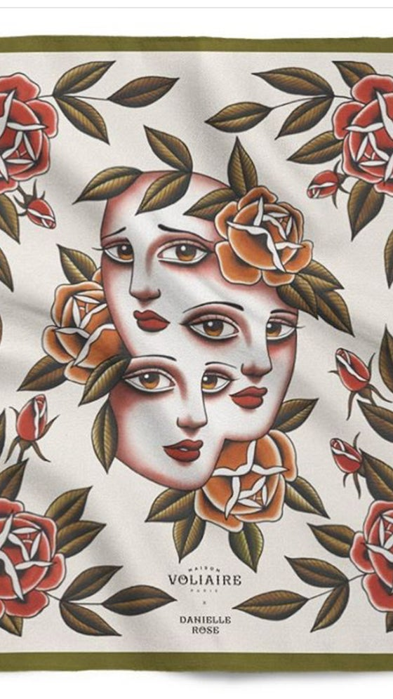 Image of 'Miss Belisana' Silk Scarf (Small)