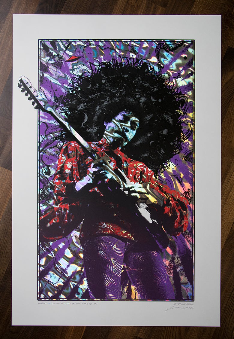 Image of Jimi Hendrix Purple Haze Lava Foil Variant AP Edition of 2