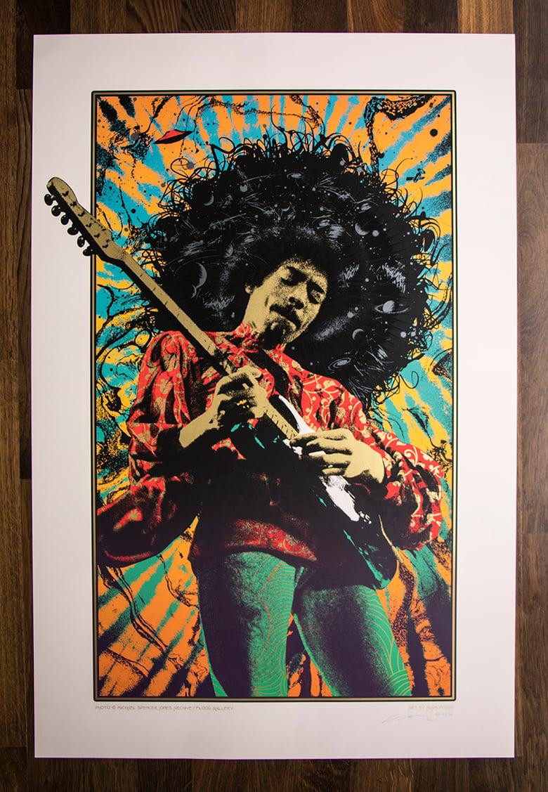 Image of Jimi Hendrix Silkscreen Art Print