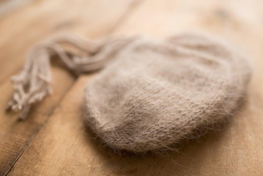 "Image of 100% Angora wrap 60"" +bonnet"