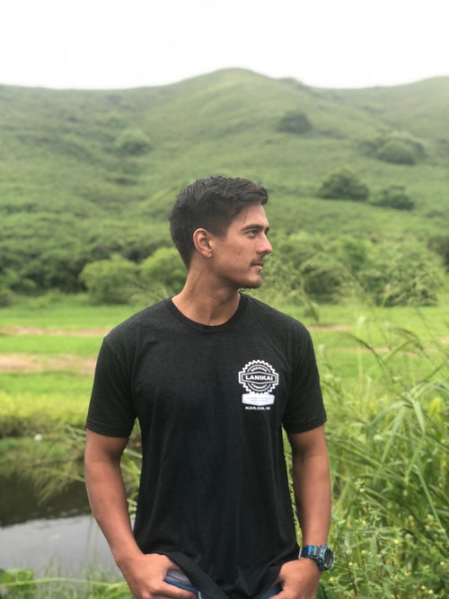 Image of Mens Crew T-shirt and logo sticker