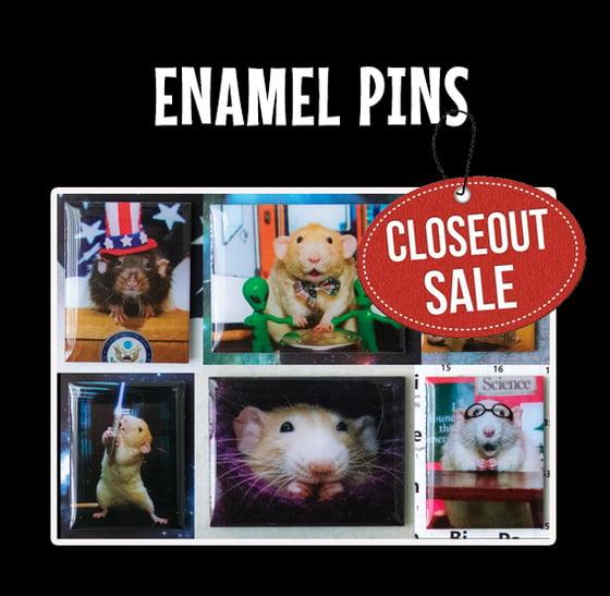 Image of ENAMEL PINS - Marty, Milo, Wimbley and Fibbs