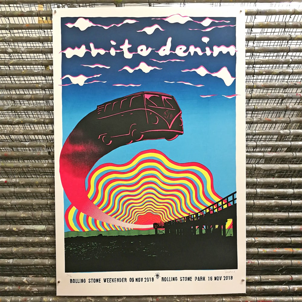 Image of WHITE DENIM<br>WEEKENDER / PARK 2018