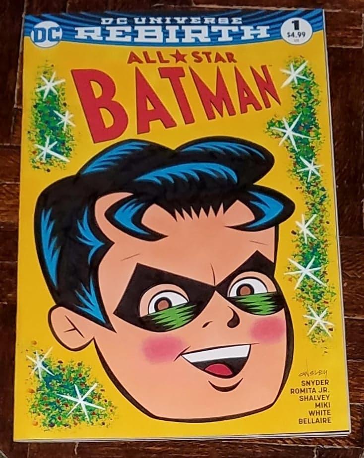 Image of ROBIN the BOY WONDER! ALL STAR BATMAN #1 ORIGINAL ART SKETCH COVER!