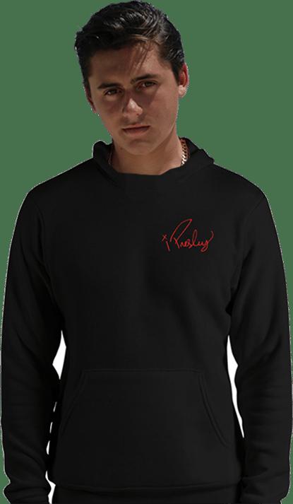 Image of X Presley Red Logo Hoodie