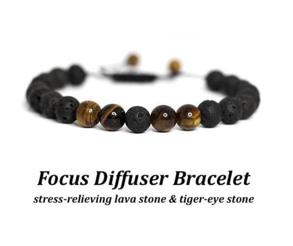 Image of Quiet Brain Focus Diffuser Bracelet Set