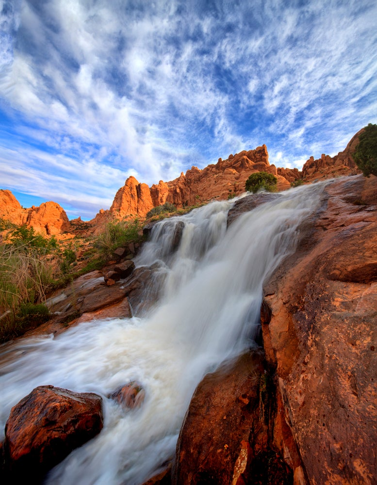 Image of Red Rock Waterfall