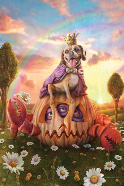 "Image of Pumpkin Crab and Puggle King 11"" X 17"" Poster - Signed"