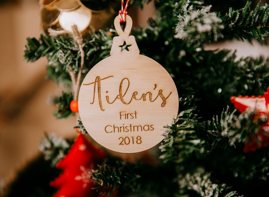 Image of Custom First Christmas Ornament