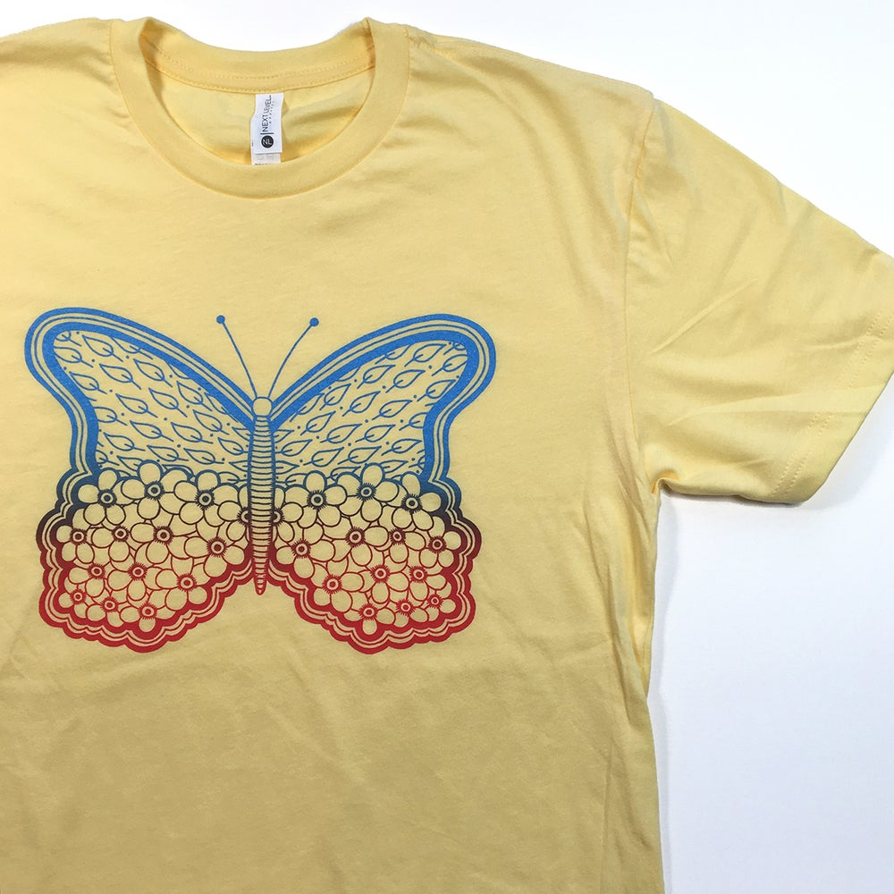 Image of BUTTERFLY - tshirt (yellow)