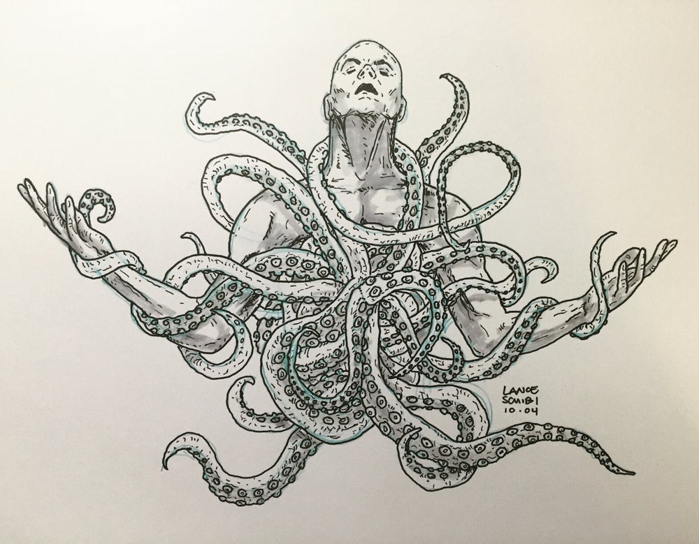 Image of DRAWLLOWEEN 2016: TENTACLE TUESDAY original