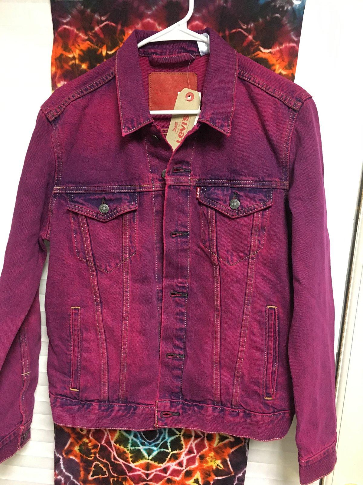 NEW Custom Dyed Ice Cream Bear Embroidered Vintage Levi's Jacket!! - Medium!