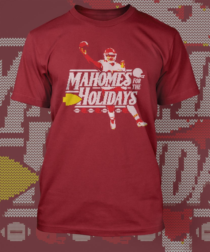 Image of Mahomes for the Holidays Shirt