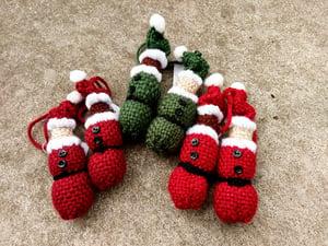Image of Santa ornament, handmade, handwoven