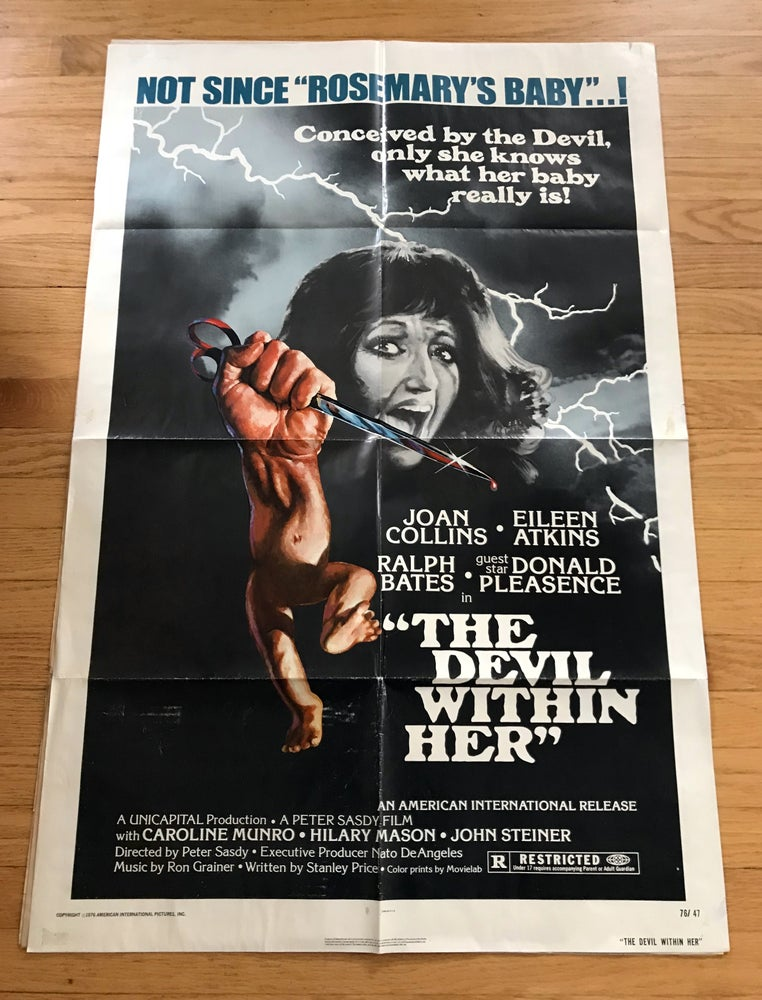 Image of 1975 THE DEVIL WITHIN HER Original U.S. One Sheet Movie Poster